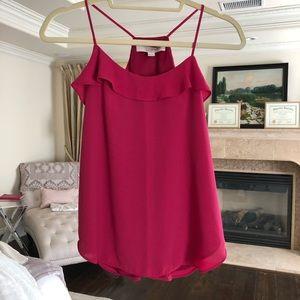 Loft // ruffle blouse